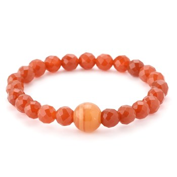 346333-Red Agate and Carnelian Bracelet