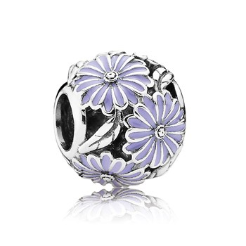 802-2849-PANDORA Daisy Meadow with Lavender Enamel Openwork Charm