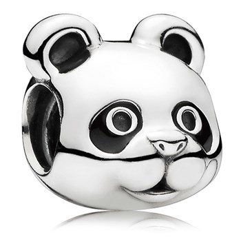 PANDORA Peaceful Panda with Black Enamel Charm-802-3091