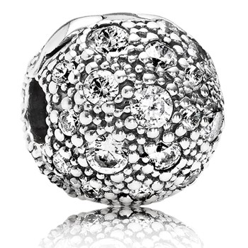 PANDORA Cosmic Stars with Clear CZ Clip-346989