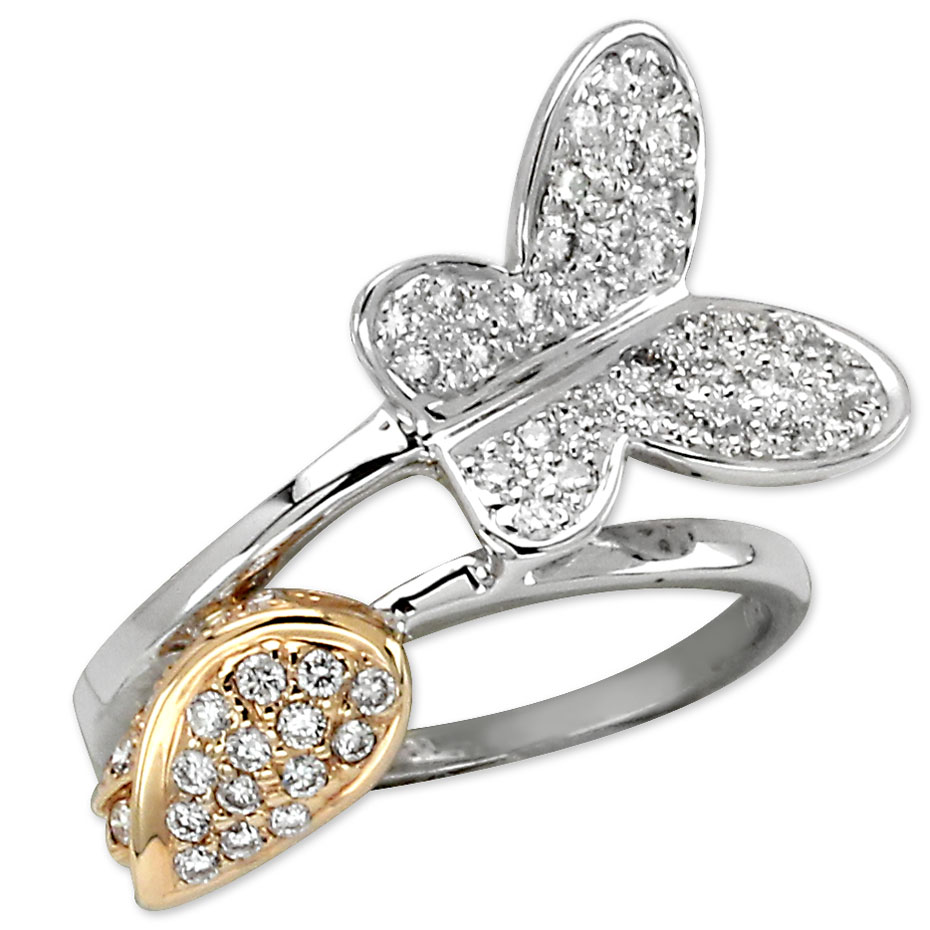 185905-Diamond Butterfly Ring