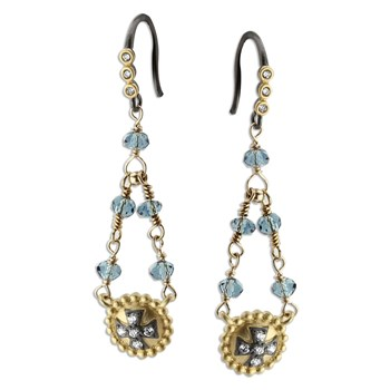 Topaz & Quartz Earrings-348564
