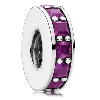 802-3075-PANDORA Eternity with Royal Purple Crystal Spacer