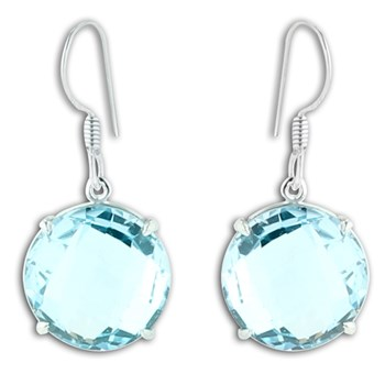 347432-Blue Topaz Earrings