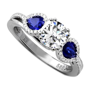 Frederic Sage Sapphire Engagement Ring-348876