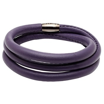 STORY by Kranz & Ziegler Triple Wrap Aubergine Lambskin Bracelet RETIRED ONLY 2 LEFT!