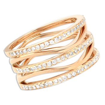 Rose Gold Diamond Ring-348309