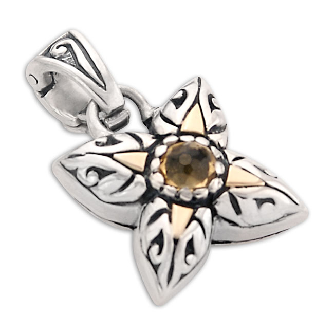 319553-Citrine Butterfly Pendant