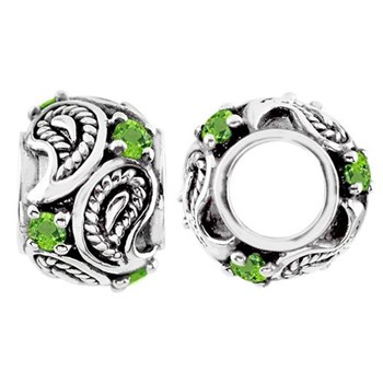 333843-Storywheels Peridot Paisley Sterling Silver Wheel
