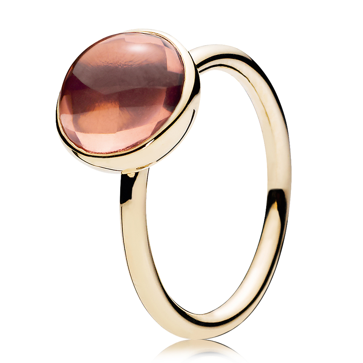 PANDORA Poetic Droplet Blush Pink Ring