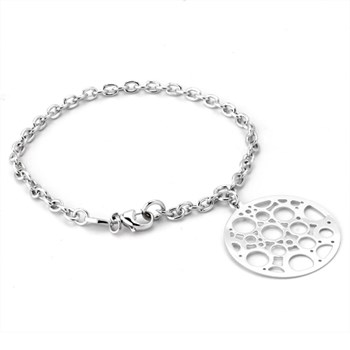 343270-Rhodium Bubble Bracelet ONLY 5 LEFT!