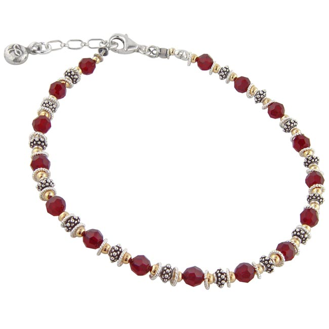 214353-Red Crystal Anklet