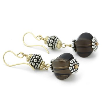 Smokey Quartz Earrings-210-781