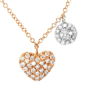 Diamond Heart Necklace-341853
