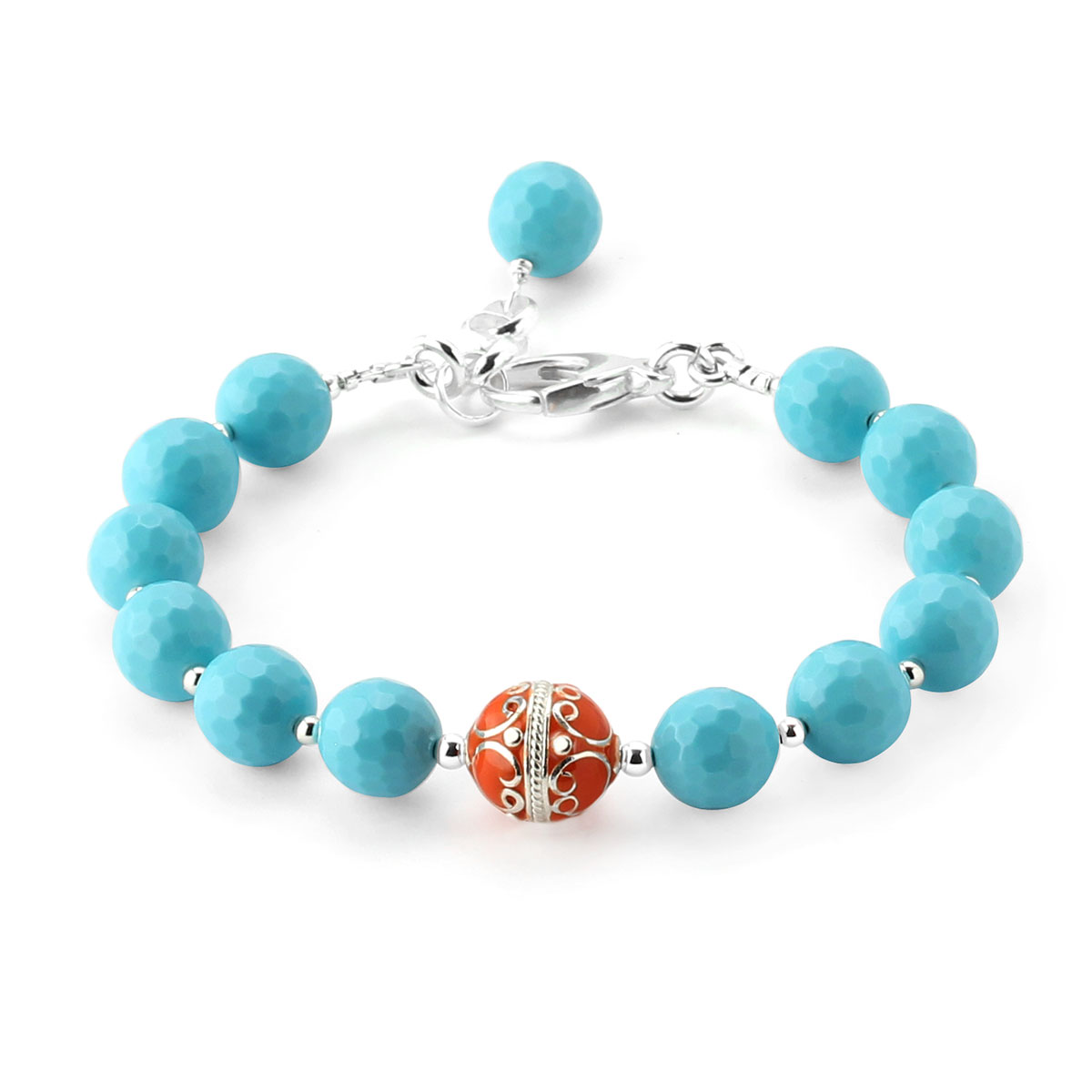 348626-Lollies Turquoise Glass Bracelet