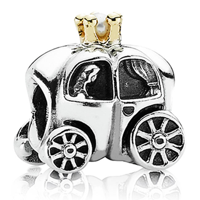 337740-PANDORA Royal Carriage with White Pearl and 14K Charm