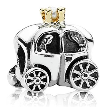 PANDORA Royal Carriage with White Pearl and 14K Charm RETIRED