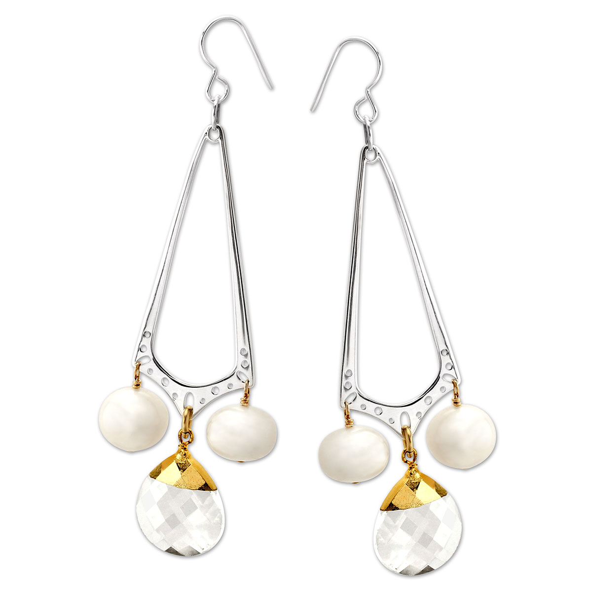 341482-Crystal & Pearl Earrings
