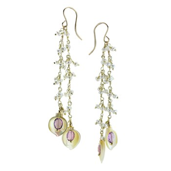 Amethyst & Mother of Pearl Earrings-349544