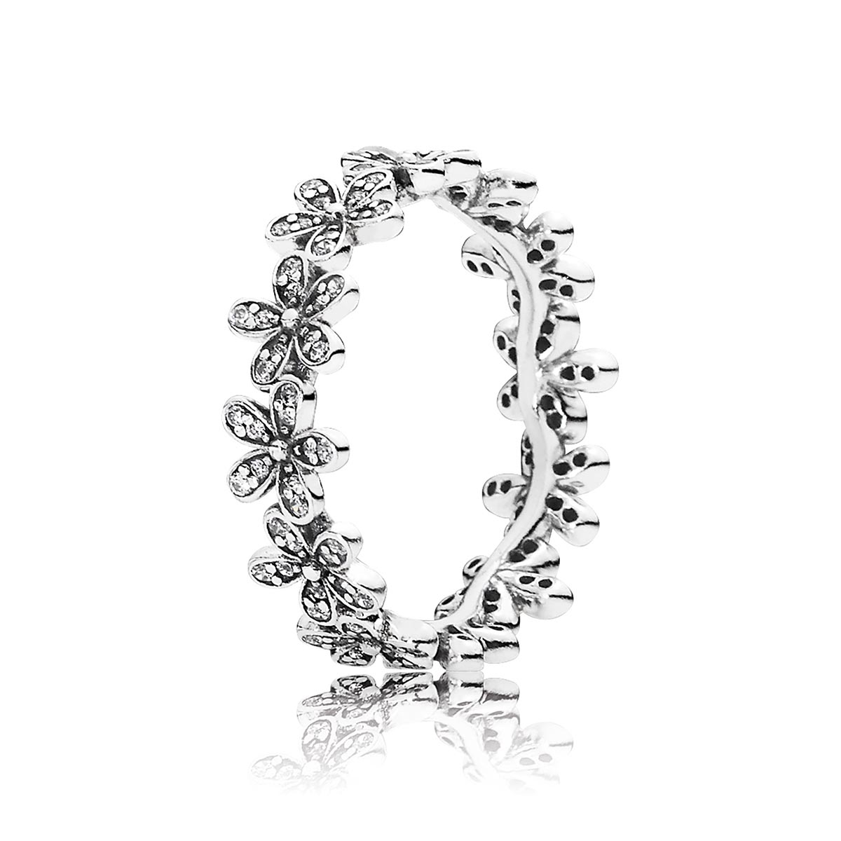 PANDORA Dazzling Daisy Meadow with Clear CZ Ring