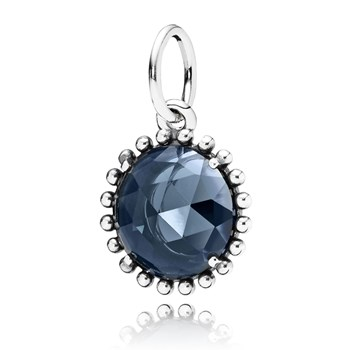 348124-PANDORA Midnight Star with Midnight Blue Crystal Pendant