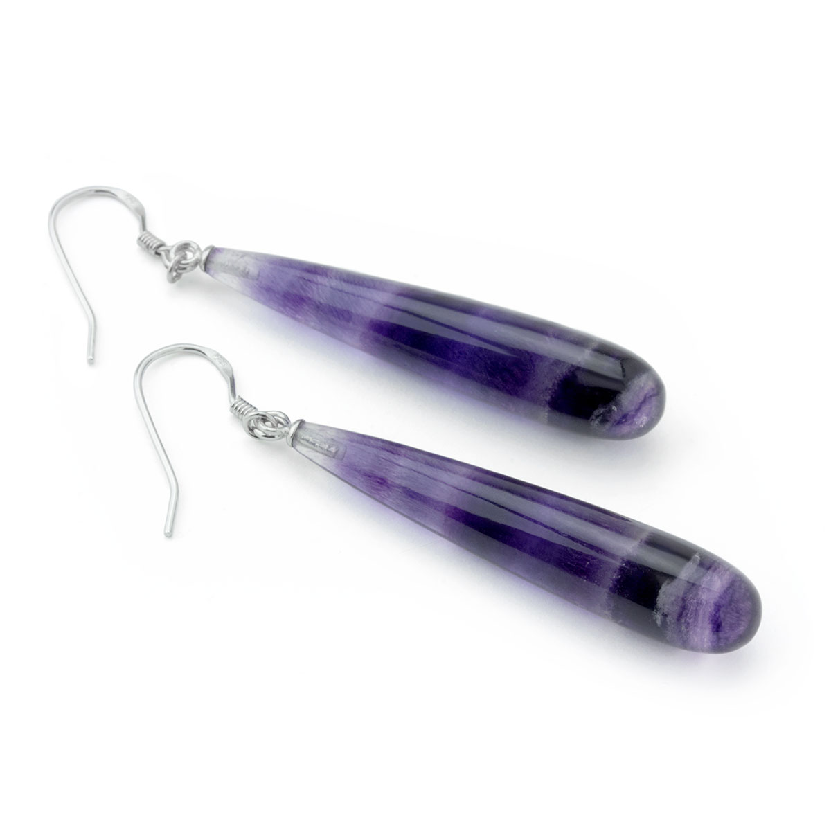 Purple Fluorite Earrings-645-1098