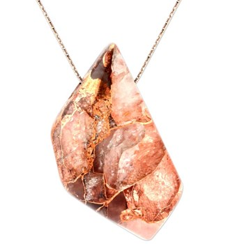 Copper in Quartz Pendant-343380