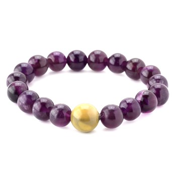 346340-Amethyst and Mookaite Bracelet