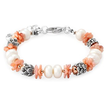 Pearl & Pink Mother of Pearl Bracelet-343103