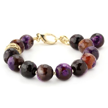 344562-Lollies Purple Agate Bracelet