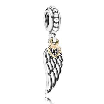 348016-PANDORA Love and Guidance Wing with 14K Dangle