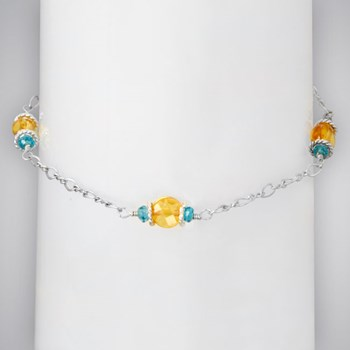 334847-Blue & Yellow Anklet