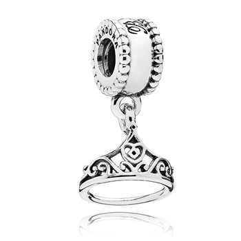 802-2883-PANDORA Disney Belle's Tiara Dangle RETIRED ONLY 3 LEFT!
