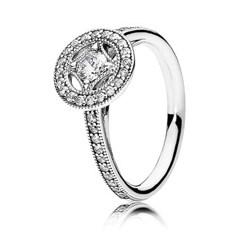 PANDORA Vintage Allure with Clear CZ Ring