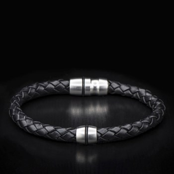 611-88-William Henry Braided Leather Bracelet