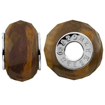 333784-Storywheels Faceted Tiger's Eye Sterling Silver Wheel ONLY 4 AVAILABLE!