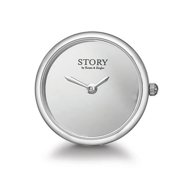 STORY by Kranz & Ziegler Sterling Silver Iconic Clock Button RETIRED