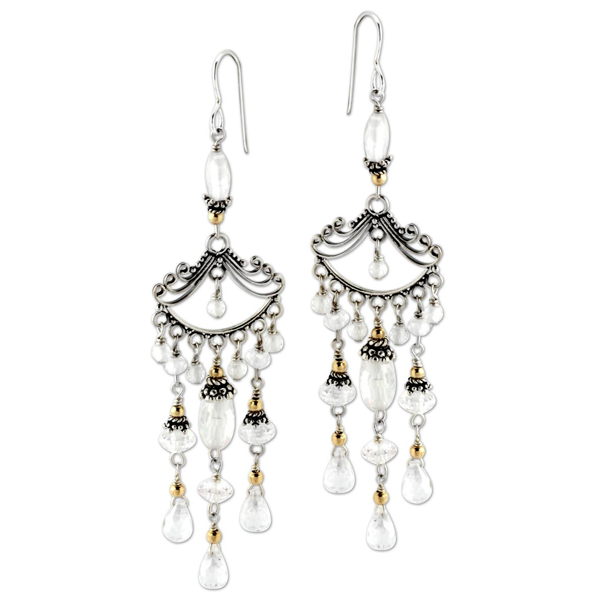 342879-Clear CZ Chandelier Earrings