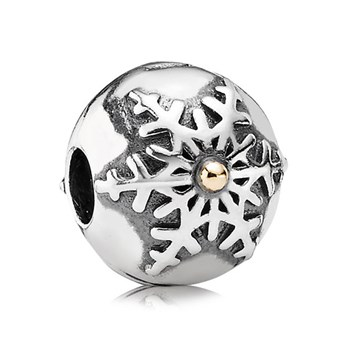 PANDORA Winter Wonderland with 14K Clip-344361 RETIRED LIMITED QUANTITIES!