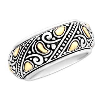Rotating Gold & Silver Ring-320597
