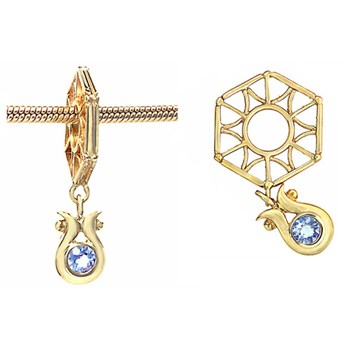 270670-Storywheels Tanzanite Dangle 14K Gold Wheel RETIRED LIMITED QUANTITES!