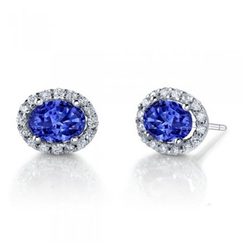 Sapphire & Diamond Earrings-347465