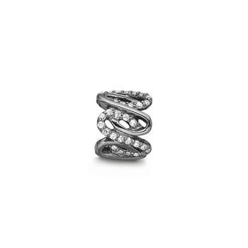 STORY by Kranz & Ziegler Black Rhodium Wavy Ring Spacer