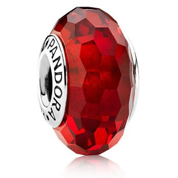 PANDORA Fascinating Red Faceted Murano Glass 341640