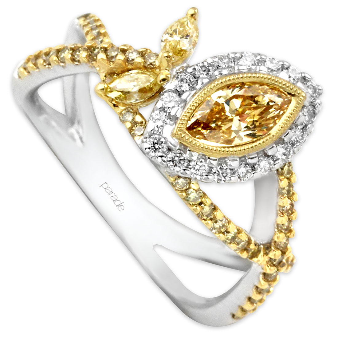 177178-Parade Marquee Yellow Diamond Ring