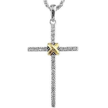 Diamond Cross Pendant-341553