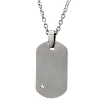 Signature Dog Tag Necklace-340778