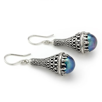 Peacock Pearl Earrings-645-3187