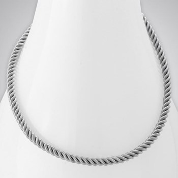 343287-SS Small Twist Necklace ONLY 5 LEFT!