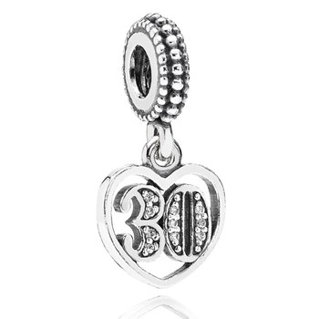 346990-PANDORA 30 Years of Love with Clear CZ Dangle